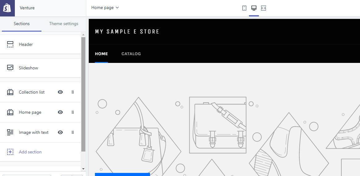 shopify - Theme Customization