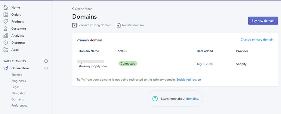 Shopify - Add Domain