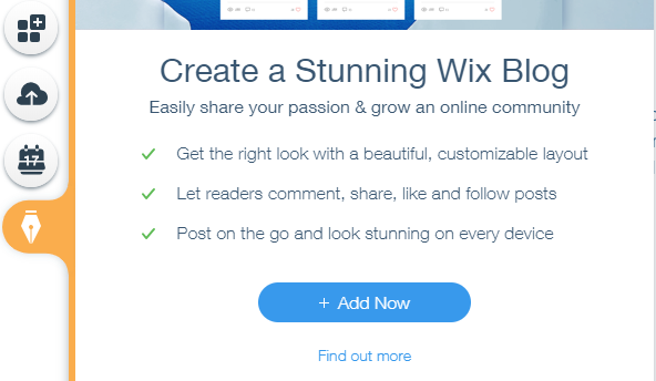 Create blog in wix free website builder